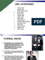 Apparel categories