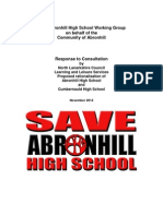 Save Abronhill High School working group - Response to Consultation.