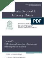 Unidad 3 El Universo homérico y las nuevas formas político-sociales (avances)