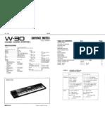 Roland W-30 Service Manual
