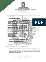 CONSEJO CURRICULAR ADMINISTRACION DEPORTIVA Acta 21 de Noviembre 19 de 2012