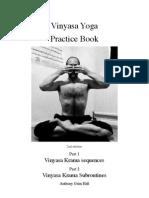Vinyasa yoga practice book