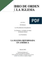 IREA - Libro de Orden de La Iglesia