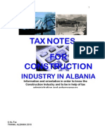 TAX NOTES FOR CONSTRUCTION INDUSTRY IN ALBANIA_AL-Tax.org