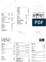 Townsite Cafe menu
