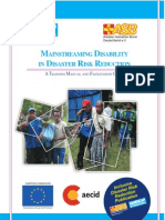 Annex 2- Mainstreaming Disability in DRR Training Manual and Facilitation Guide