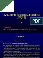 Curso Nacional de Saneamiento Fisico Legal de Predios Urbanos Ley 27157 y 27333 Colegio de Arquitectos Del Peru - Dias 16, 17, 18, 19 de Julio Del 2012_2