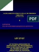 Curso Nacional de Saneamiento Fisico Legal de Predios Urbanos Ley 27157 y 27333 Colegio de Arquitectos Del Peru - Dias 16, 17, 18, 19 de Julio Del 2012_5