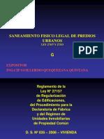 Curso Nacional de Saneamiento Fisico Legal de Predios Urbanos Ley 27157 y 27333 Colegio de Arquitectos Del Peru - Dias 16, 17, 18, 19 de Julio Del 2012_7
