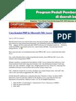 Cara Koneksi PHP Ke Microsoft