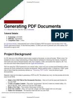 Generating PDF Documents-Part1