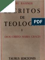 Escritos de Teologia - 01 - Rahner Karl - OCR