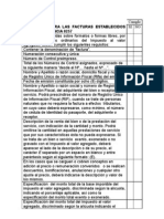 Requisitos de Factura Según Providencia 257