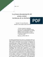 Primera documentación del Aimara Central