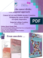 Bridging the Cancer Divide, London 25 Oct 2012