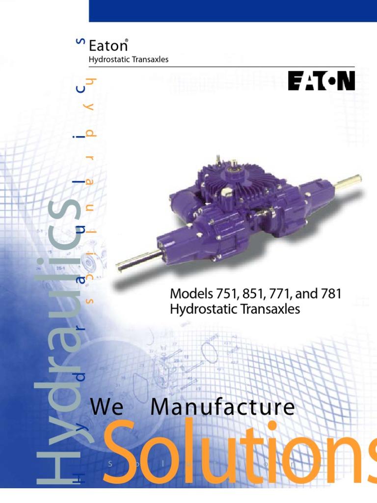 Eaton 750_850 Specs | Axle | Transmission (Mechanics)