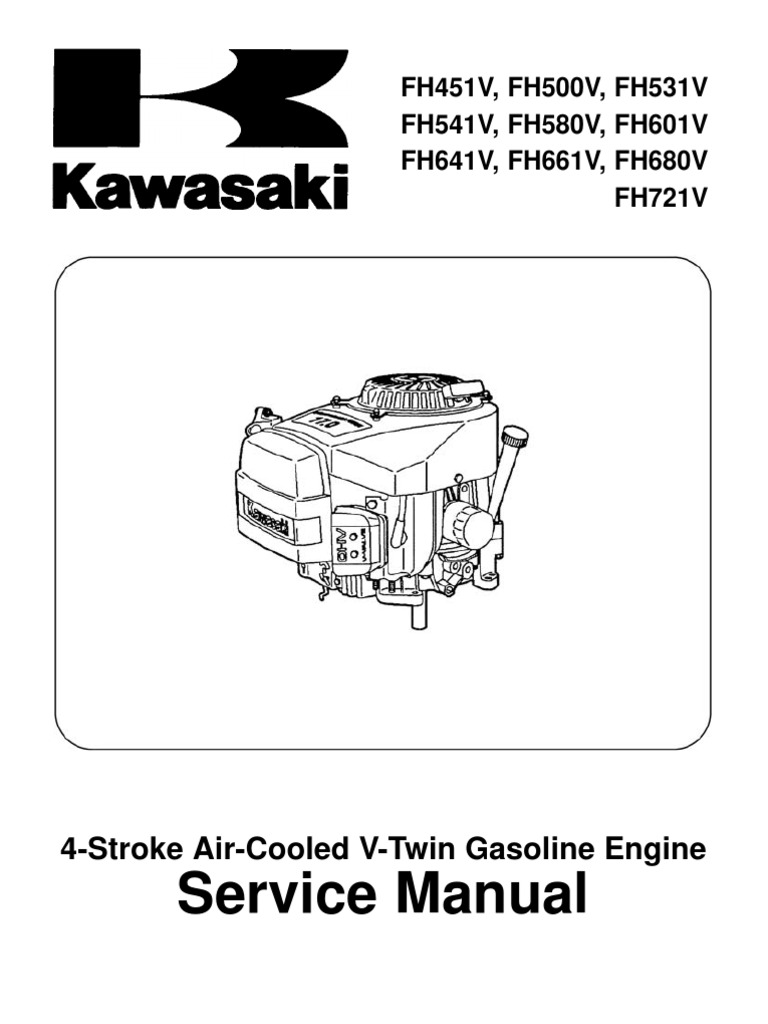 Kawasaki FH541V Service Manual | Screw | Carburetor