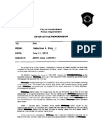 Mayor Stoddard Burglary Report Memo
