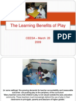 The Learning Benefits of Play