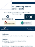 Strategies for Controlling Medical Insurance Costs