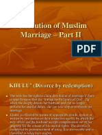 Dissolution of Muslim Marriage – Part II