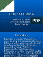 Gov 141 Federalism