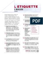 Rules of Email Etiquette