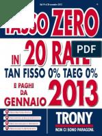 Trony Roma Offerte Novembre