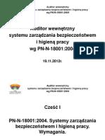 Auditor wewnętrzny 18001 część I