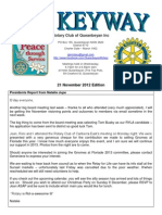 The Keyway - 21 Nov 2012 Edition - weekly newsletter for the Rotary Club of Queanbeyan