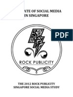 2012 Singapore Social Media Study by Rock Publicity