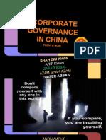 Corporate Governance of CHINA