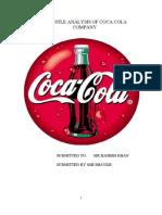 pestel analysis of coca cola