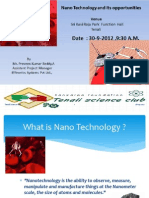 Nano technology and its oppurtunities
