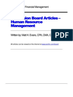 Human Resource Mgmt Articles