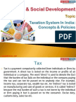 23(A) Taxation System in India-Concepts and Policies