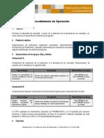 Procedimientos de Operacion Lineamientos Promercado