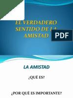 LA AMISTAD -1ER AÑO SEC.- 2012