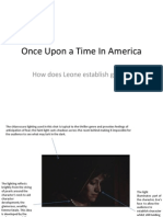 Once Upon a Time in America Shot Analysis