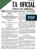 Ley Orgánica de Procedimientos Administrativos GO 2818 1 Jul 1981