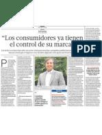 Paul Gunning en entrevista para el diario El Comercio