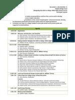 Participant Agenda