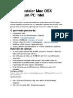Como Instalar Mac OSX 10.6.7 Num PC Intel