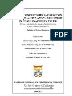 2.a Study on Customer Satisfaction of Honda Activa Among Customers in Changanacherry Taluk