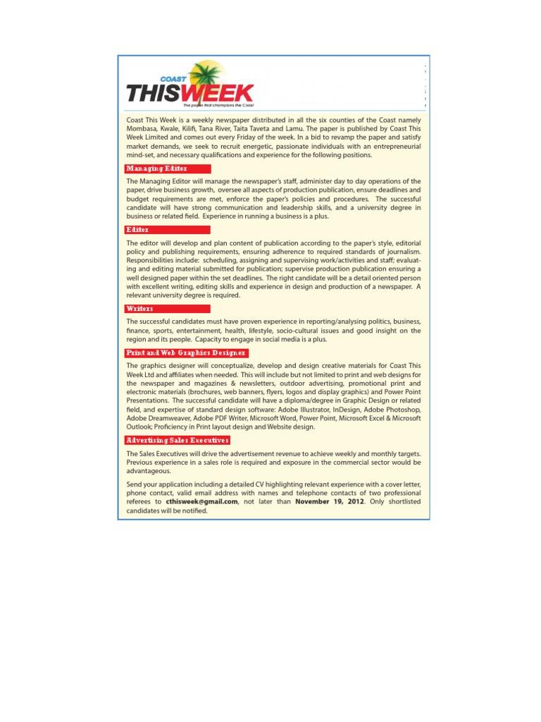 Coast This Week 18x3 (2) | Publishing | Newspapers
