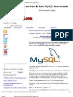 Exportar e Importar Una Base de Datos MySQL Desde Consola