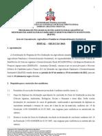 Edital Seleção MAFDS 2013