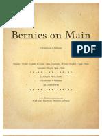 Bernie's on Main Menu