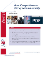 American Competitiveness- A matter of national security