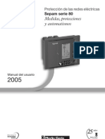 Manual Medidas, Protecciones y Automatismos Serie 80 ES